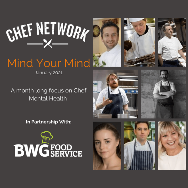 BWG Foodservice are partnering with Chef Network to support a mental health focused campaign, Mind Your Mind